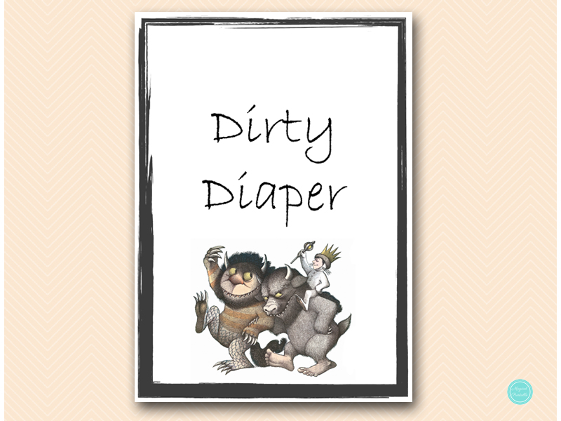 Where The Wild Things Are Baby Shower Games Magical Printable