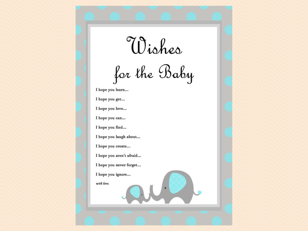 Blue Elephant Baby Shower Games - Magical Printable