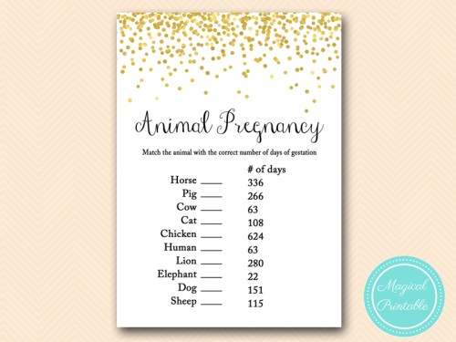 Gold Dots Baby Shower Game Set Magical Printable