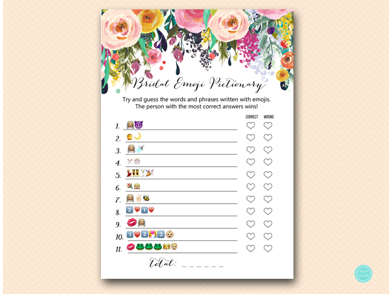 photo about Emoji Bridal Shower Game Free Printable titled bs138 Archives - Magical Printable