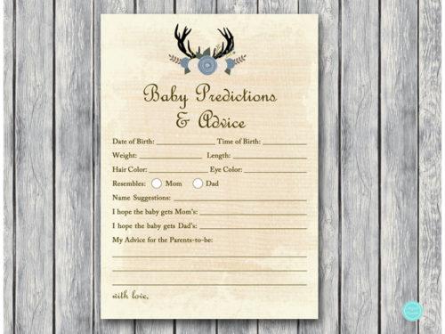 Blue Buck Deer Baby Shower Game Package Magical Printable