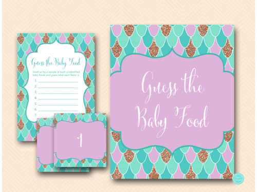 Mermaid Baby Shower Game Guess The Baby Food Magical