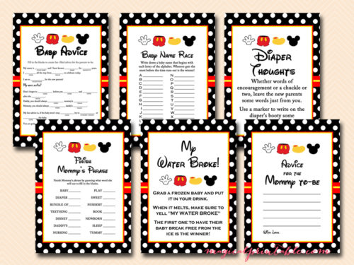 Mickey Mouse Baby Shower Pack Magical Printable