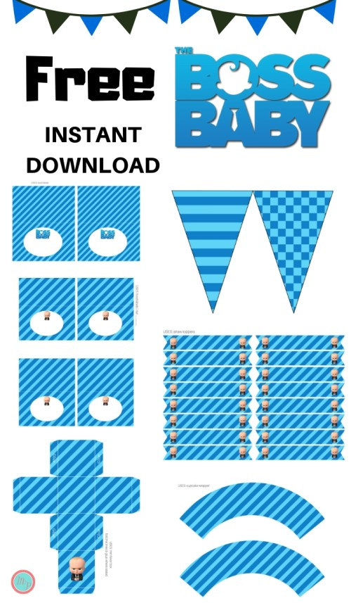 free boss baby party printable