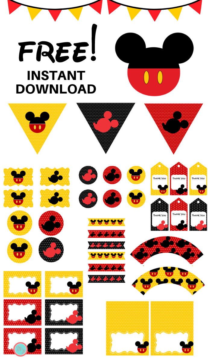 image about Printable Mickey Mouse called Free of charge Mickey Mouse Occasion Printables - Magical Printable