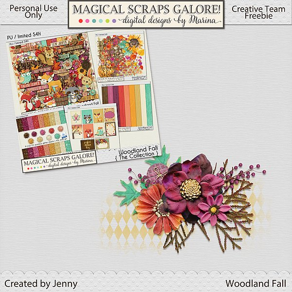 New collection: WOODLAND FALL, plus a gorgeous freebie!