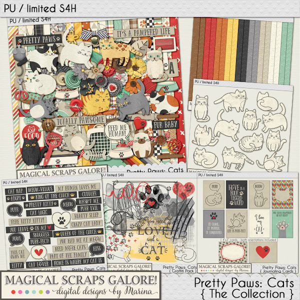 New collection: PRETTY PAWS: CATS! Plus an adorable freebie!