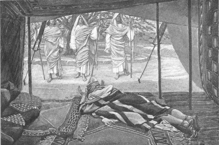 Resultado de imagem para אברהם אבינו ושלושה מלאכים