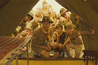 Edward Norton (at center) stars as Scout Master Ward in Wes Anderson's MOONRISE KINGDOM, a Focus Features release. Credit: Focus Features