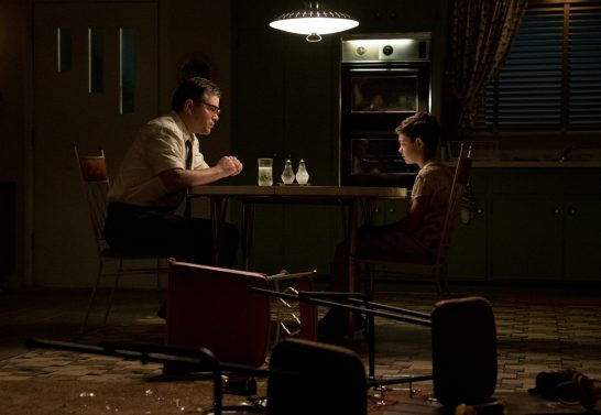 Left to right: Matt Damon as Gardner and Noah Jupe as Nicky in SUBURBICON, from Paramount Pictures and Black Bear Pictures.