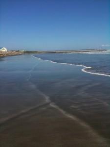 砂浜で撮影1
