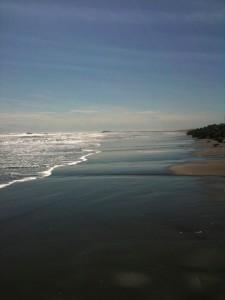 砂浜で撮影2