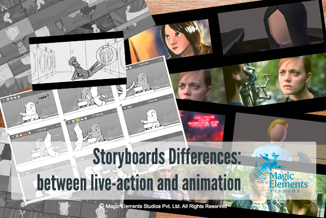 Storyboards differences, live-action and animation
