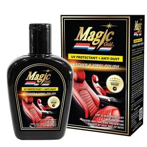 Magic Gold น้ำยาเคลือบเงาเบาะหนังและไวนิล สูตรป้องกันรังสียูวี