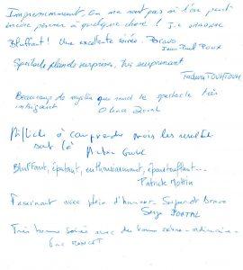 Commentaires clients - Thales - Eric Moncet - Serge Portal - Patrick Mottin - Jean Luc Sandral -