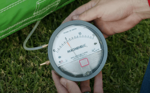 A Magnehelic pressure can help measure the air pressure of your inflatable.