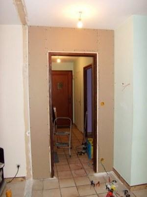Blog de magicmanu :Aménagement de notre maison, Création du nouveau mur