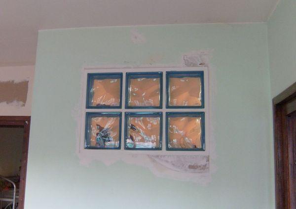 Briques de verre lissées