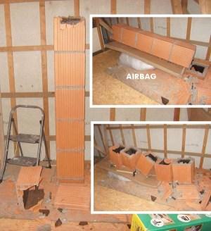 Blog de magicmanu :Aménagement de notre maison, Boisseaux cheminée cassés