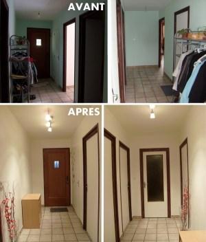 Blog de magicmanu :Aménagement de notre maison, Peinture Couloir Entrée