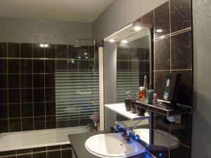 Blog de magicmanu :Aménagement de notre maison, Peinture pailletée salle de bain