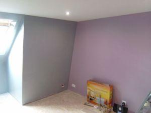 Blog de magicmanu :Aménagement de notre maison, Peinture Chambre (Violet & Gris)