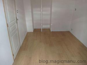 Blog de magicmanu : Aménagement de notre maison, Sol stratifié chêne dans la chambre