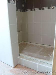 Pose du receveur de douche