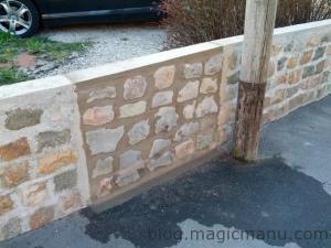 Muret clôture en pavés