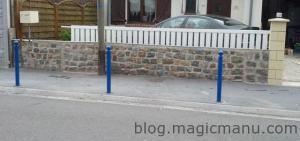 Blog de magicmanu : Aménagement de notre maison, Muret clôture en pavés