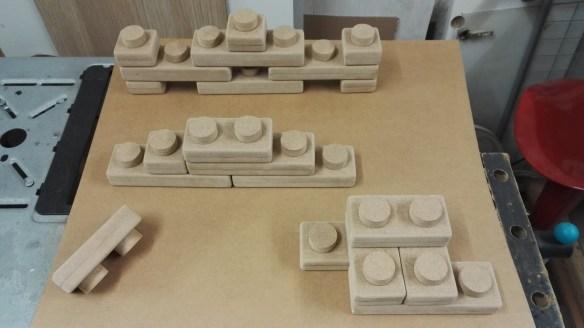 Bougeoirs Lego plan
