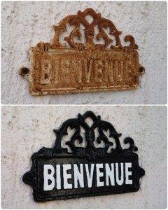 Restauration d'une plaque en acier