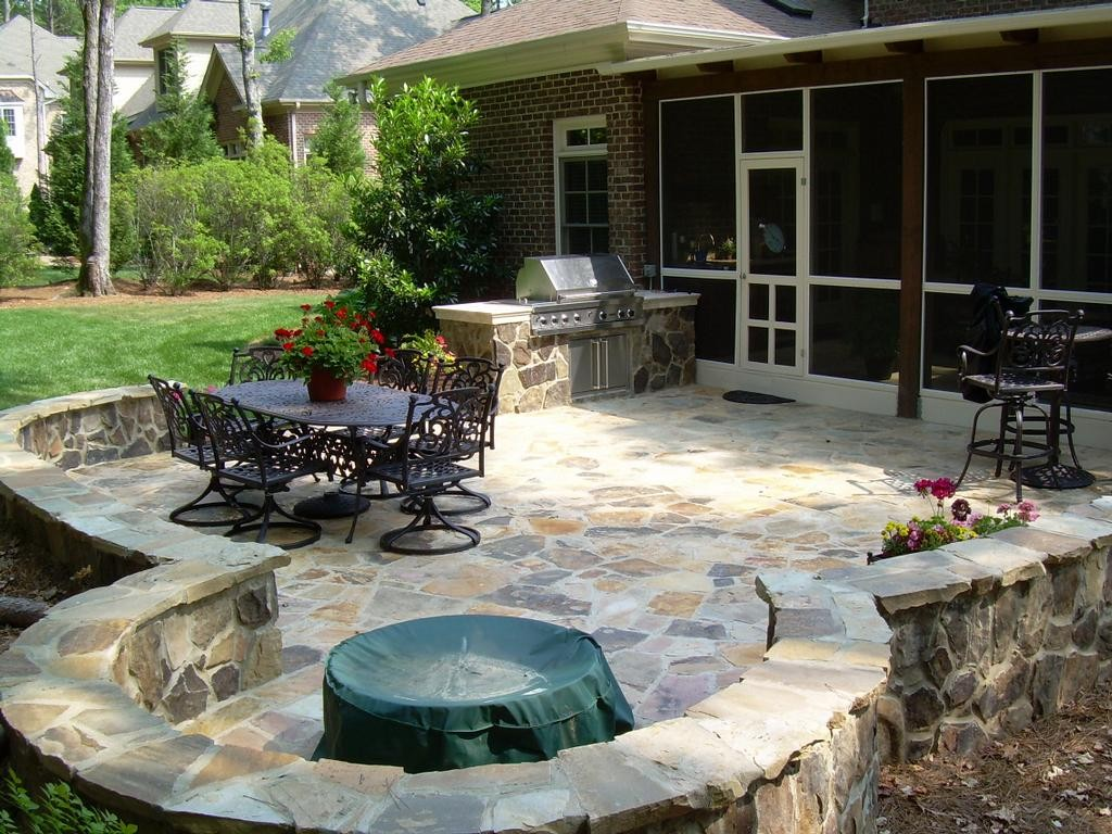 Masonry & Chimney Project Photo Gallery | Magic Masonry on Small Backyard Stone Patio Ideas id=95755