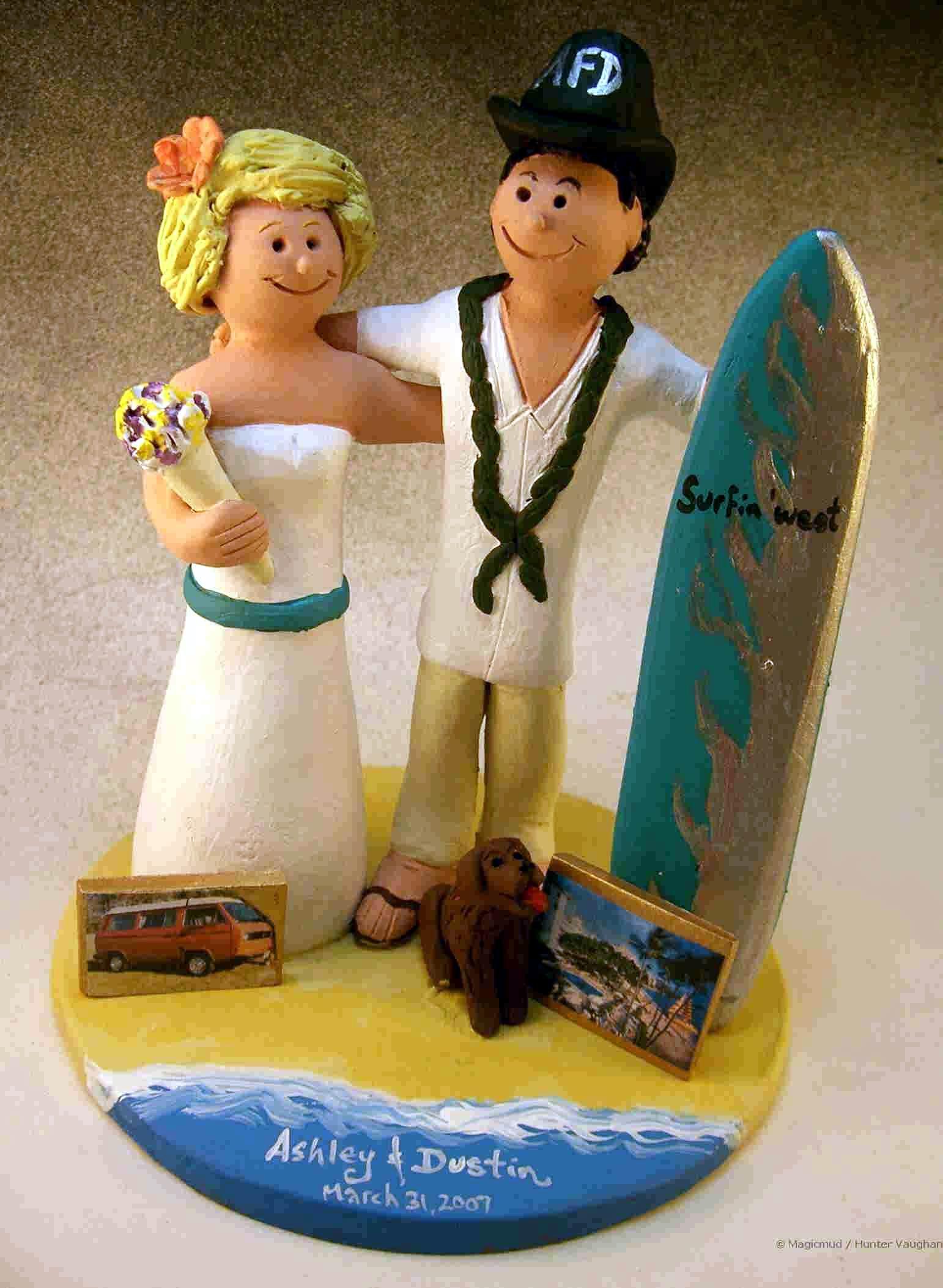 Hawaiian Wedding Cake Topper