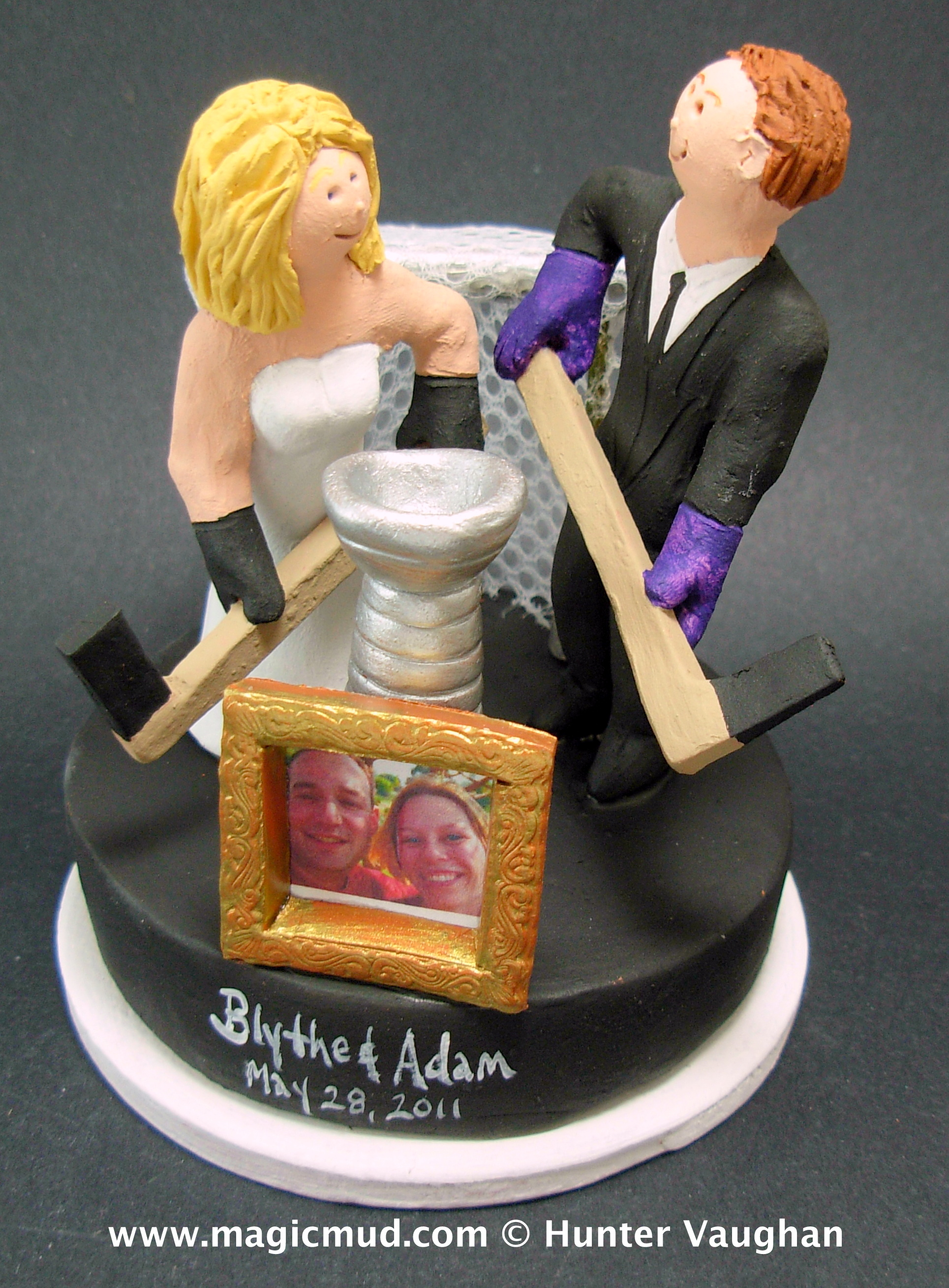 Hockey Wedding Cake Toppers
