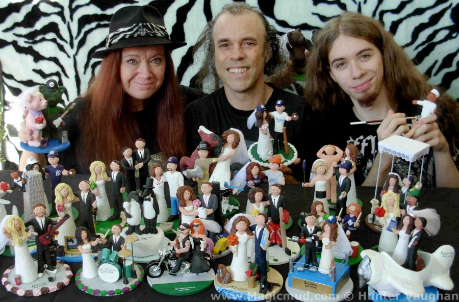 Custom Wedding Cake Toppers  Personalized Figurines  Clay     Custom Wedding Cake Toppers created by Magicmud