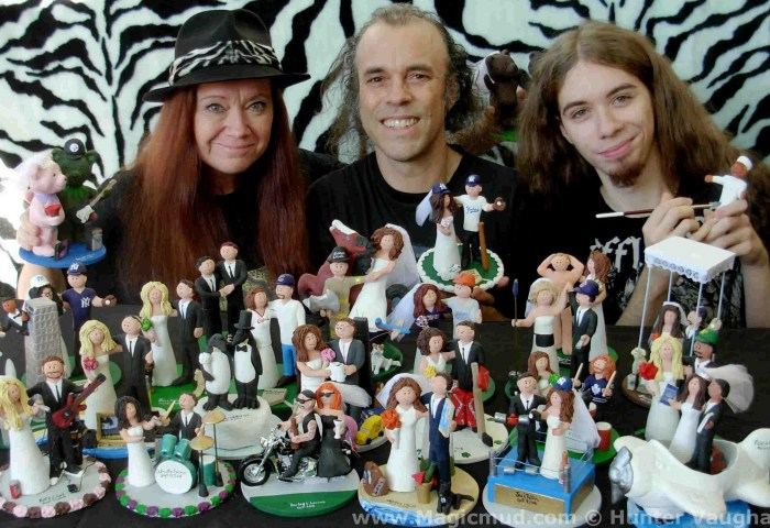 Custom Wedding Cake Toppers Personalized Figurines Clay