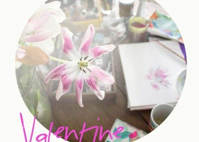 DIY Valentine, Watercolors and lettering