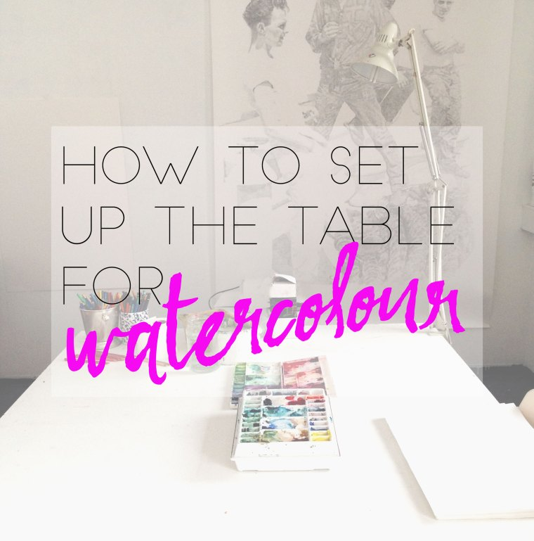 How to set up the table for painting