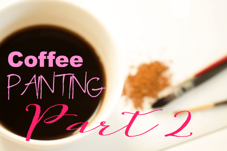 coffee painting tutorial