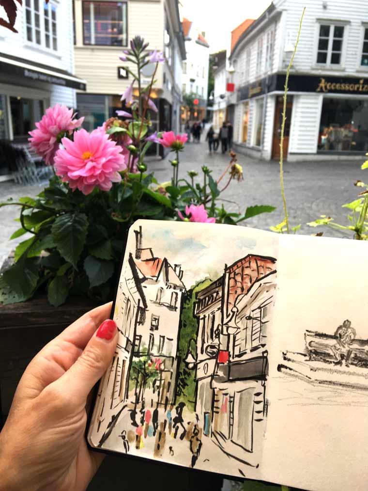 Sketchbook in Stavanger