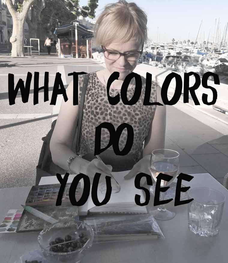 What colors do you see, watercolour