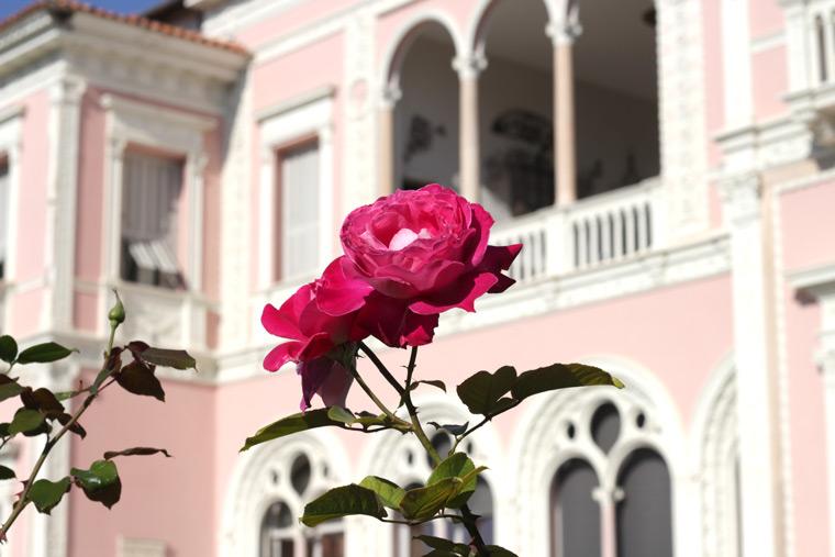 pink villa in France
