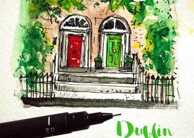 traveling in Irland , Sketchbook and travel journals