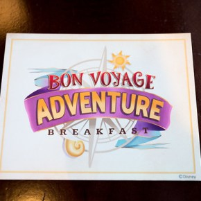 Bon Voyage Adventure Breakfast — A Royally Fun Character Meal