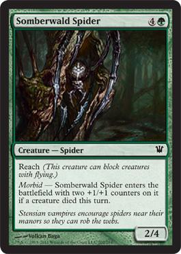 Somberwald Spider from Innistrad Spoiler