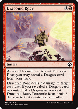 Draconic Roar From Iconic Masters Spoiler