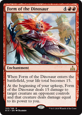 Form Of The Dinosaur From Rivals Of Ixalan Spoiler