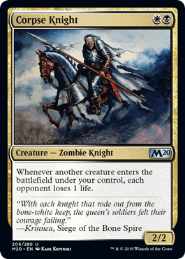 Corpse Knight From Core Set 2020 Spoiler