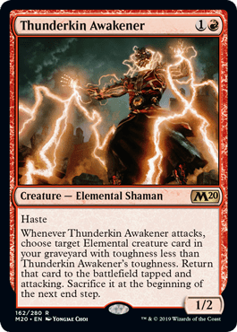 Thunderkin Awakener From Core Set 2020 Spoiler